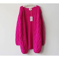 Gorgeous Neon Open-Front Knit Cardigan for Women Free Shipping