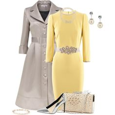"""""""Yellow Dress for a Winter Wedding Contest"""" by kginger on Polyvore"""
