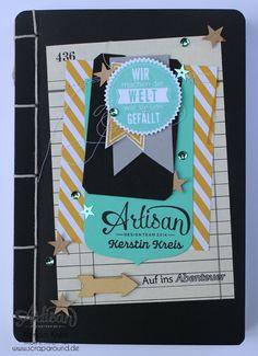 Notizbuch - Artisan DesignTeam BlogHop 07.08.2014