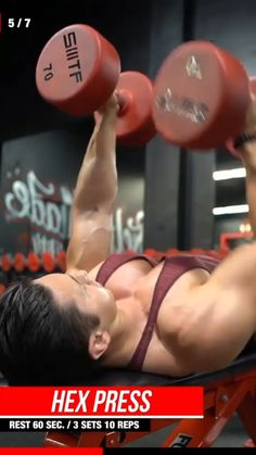 Push Workout, Gym Workout Videos, Gym Workout For Beginners, Dumbbell Workout, Workout Humor, Gym Workouts, Chest Workout For Men, Weight Training Workouts, Shoulder Workout