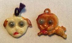 VINTAGE-Celluloid-GOOGLY-EYE-Dog-Lion-Charm-Toy-Cracker-Jack-Prize-Japan