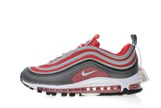 Nike Air Max 97 Red Grey 921826-007 Fake Shoes, Cl Shoes, New Sneakers, Air Max Sneakers, Sneakers Nike, Air Max 97 Outfit, Balenciaga, Shops, Designer High Heels