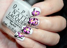 Orchids by I'm A Nail Art Addict!