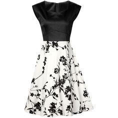 Sweetheart Collar Flower Pattern Vintage Dress ($25) ❤ liked on Polyvore featuring dresses, white day dress, white dress, floral dresses, vintage floral print dress and vintage dresses