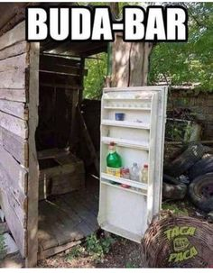 Refrigerator door on a outside toilet Funny Quotes, Funny Memes, Jokes, Outside Toilet, Funny Pranks, How To Better Yourself, Funny People, Funny Things, Funny Kids