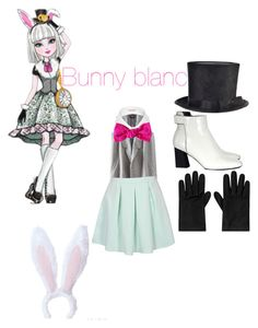 """""""Bunny Blanc"""" by mariab6 ❤ liked on Polyvore featuring River Island, Gina Made It, Proenza Schouler and Alexander McQueen"""