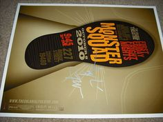$50 Tom Whalen Monster Squad Movie Poster ARTIST+ACTOR SIGS <--yes, I signed this one for their screening in Philly. It's legit. Tom Whalen, Monster Squad, Actors, Artist, Movie Posters, Artists, Film Poster, Billboard, Film Posters