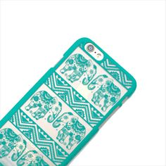 Such a cute mint tribal elephant phone case for my iPhone!