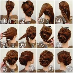 Recogido con trenzas - All For Little Girl Hair Work Hairstyles, Pretty Hairstyles, Braided Hairstyles, 1800s Hairstyles, Civil War Hairstyles, Wedge Hairstyles, Blonde Hairstyles, Vintage Hairstyles, Hair Color For Women