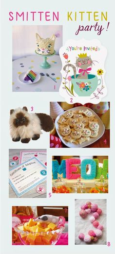 Sea Urchin Studio: Smitten Kitten Birthday Party