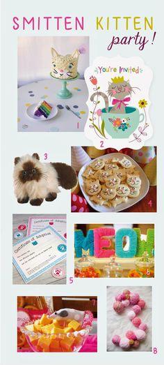 Sea Urchin Studio: Smitten Kitten Birthday Party