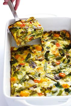 Spring Veggie Breakfast Bake | This veggie dish is the perfect recipe for Mother's Day brunch.