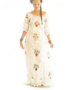 Katrina Mexico romantic ethnic vintage Mexican by AidaCoronado, $700.00