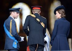 Duchess of Cambridge and Prince William, Duke of Cambridge attend a Service of Commemoration for troops who were stationed in Afghanistan on March 13, 2015 in London, England.