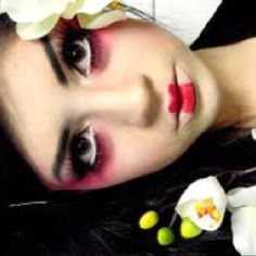 Geisha doll makeup
