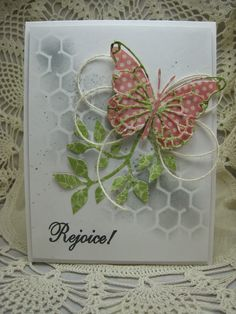 Supplies: Stamps: Inspired by Stamping (Australian company); Ink: HA soft granite ; Memento tuxedo black; Paper: Graphic45; Other: Tim Holtz stencil; Memory box vivienne butterfly; Sizzix leaves; PTI twine