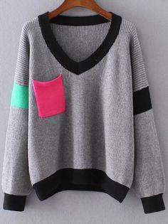 Tricot Color Block - Estilo Próprio by Sir Tricot Color Block, blusa