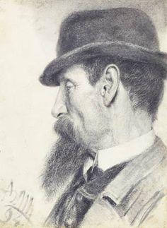 Adolf von Menzel - Portrait of a man, 1894. Detroit Institute of Arts