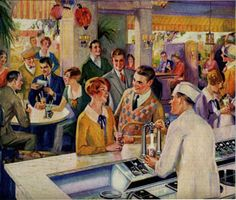 """Soda drinks began to be viewed as """"habit forming"""" and eventually became looked down upon. The """"soda fountain"""" developed a reputation for serving intoxicating beverages. Many pharmacies began to distance themselves from the bad reputation that developed as result of the """"habit forming"""" products sold from the 1860's through the early 1900's. Jacob Baur, founder of the Liquid Carbonic Company,"""