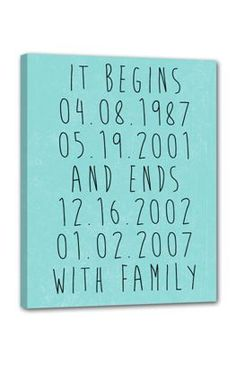 cool gift for wife sweet way to remember special family dates . love!