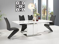 Stół Firenze świetnie sprawdzi się w nowoczesnej kuchni oraz salonie. Mebel wprowadzi dużo bieli i nowoczesnego rozwiązania. Dodatkowym atutem jest funkcja rozkładania która pozwoli dodatkowo otrzymać 40 cm. Idealnie zgrane kolory stali oraz bieli tworzy niepowtarzalny klimat.
