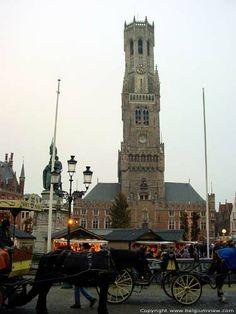 12th Century bell tower in Bruges, Belgium