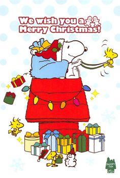 Snoopy and Woodstock Snoopy Cartoon, Peanuts Cartoon, Peanuts Snoopy, Wish You Merry Christmas, Christmas Art, Christmas Humor, Christmas Horses, Merry Xmas, Snoopy Images