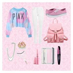 """""""Cute Pink Look"""" by sarahwebb112 ❤ liked on Polyvore"""
