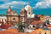 Vista de la Ciudad de Cartagena de Indias en Colombia.