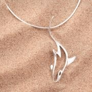 Sterling Silver Shark Pendant - In support of The Shark Trust