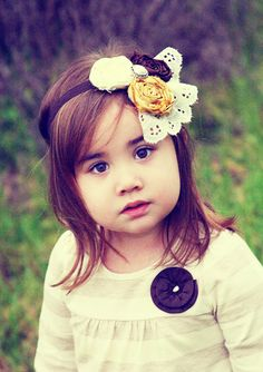 I will probably make my little girl wear something just like this.... If I can learn how to make it:)