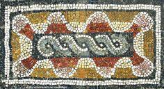 Pormenor em mosaico. Cubiculum. Casa dos Esqueletos. Séc. III-IV