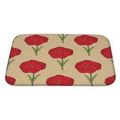Gear New Flowers Seamles Floral with Flowers Bath Mat/Rug Size: