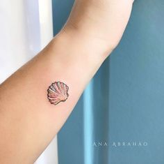 Seashell tattoo by Ana Abrahao