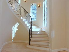 My future foyer up to the guest room, the house in Aspen