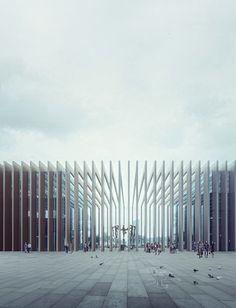 E3 West - E3 East   Mario Cucinella Architects Location: Porta Nuova di Milano > Render: MIR