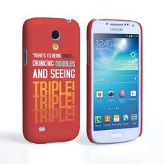 Caseflex Samsung Galaxy S4 Mini Single, Double, Triple Quote Hard Case – Red #Quote #Red #Single #Double #Triple #NightOut #SaturdayNight #StPatricksDay #Gift #Present #Samsung #Galaxy #S4Mini #GalaxyS4Mini #SamsungS4Mini #Case #Cover #HardCase #PhoneCover #Holiday #Celebration