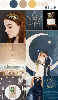 ธีมงาน Moon and stars wedding theme ,ธีมงานแต่ง ,ธีมงานแต่งงาน Starry Night Moon and stars wedding theme | sodazzling.com