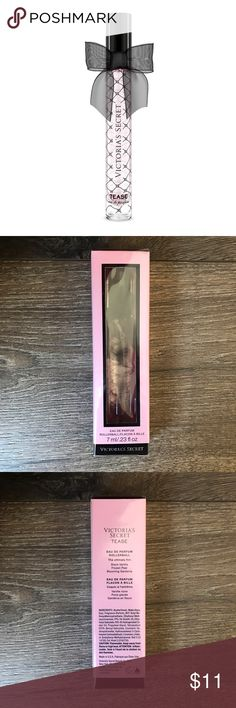 VS Tease Eau De Parfum Rollerball The ultimate flirt, this travel-ready fragrance thrills with an enticing mix of black vanilla, frozen pear and blooming gardenia.  Fragrance type: Warm Notes: Black vanilla, frozen pear and blooming gardenia 7 ml/.23 fl. oz. Domestic Victoria's Secret Makeup