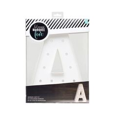 """Now anyone can see their name in lights with these 12"""" marquee letters from Heidi Swapp. Totally customizable, each letter kit comes with a 3D letter shape and bright LED lights that are ready for your personal touches."""