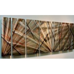 Shop for Statements2000 Red / Earthtone Abstract Metal Wall Art Painting by Jon Allen - Meteor Eclipse. Get free delivery at Overstock.com - Your Online Art Gallery Shop! Get 5% in rewards with Club O!