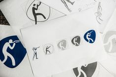The 'Rio Organizing Committee for the Olympic and Paralympic Games has unveiled its official sport pictogram designs. Rio Olympic Logo, Design Basics, Web Design, Logo Design, Rio Olympics 2016, Signage Design, Communication Design, Brand Identity Design, Olympic Games