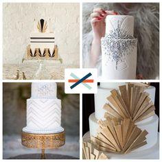 @Janelle Siegrist :::: LeeMaeMarie asked: Great Gatsby is all the rage for weddings. Pick your favorite twenties art deco wedding cake!