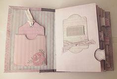 How to Bind the Shabby Chic Printable Mini Album -- Encuadernado con hilo y cómo poner lazo cierre