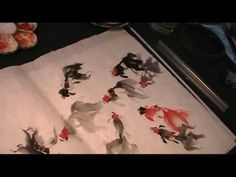 Basic Strokes of Painting Goldfish in Sumi Ink and Watercolor - YouTube