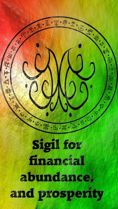 Sigil for financial abundance, and prosperity Requested by anonymous Luck Spells, Magick Spells, Witchcraft, Wiccan Symbols, Magic Symbols, Pagan, Viking Symbols, Egyptian Symbols, Viking Runes