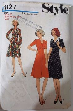 Vintage sewing pattern womans dress size 12 in Crafts, Sewing, Sewing Patterns | eBay!