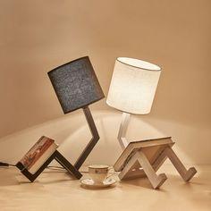 Modern Bedside Table, Bedside Table Design, Touch Table Lamps, Table Lamps For Bedroom, Table Lamp Wood, Wood Lamps, Diy Bedroom Decor, Table Desk, Luxury Home Decor