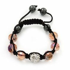 Transparent Pink & Clear Crystal Balls Swarovski Shamballa Bracelet -10mm - Adjustable Avalaya. $16.20. Metal Finish: silver plated. Gemstone: swarovski crystal. Occasion: casual wear, cocktail party, going to theatre. Material: glass. Type: bead jewellery