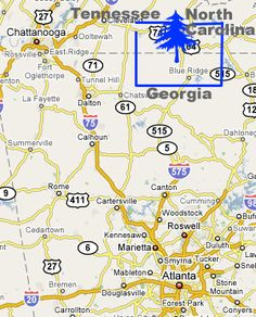 Blue Ridge Mountains Just In Case You Dont Know Where They Are - Georgia map mountains